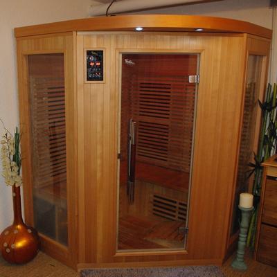 cabine sauna vue exterieure centre de relaxation à Rodern